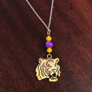 💜🐯Beaded LSU Tigers Theme Necklace🐯💜